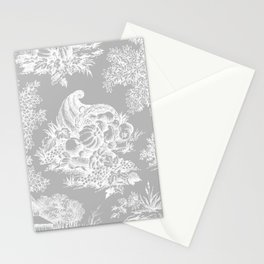 toile tradition grey Stationery Cards