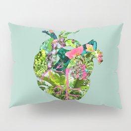 Botanical Heart Mint Pillow Sham