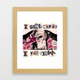 I want Candy! (Marie Antoinette) Framed Art Print