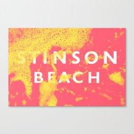 Stinson Beach Signage Canvas Print