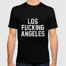 Los Fucking Angeles Mens Fitted Tee LARGE Black