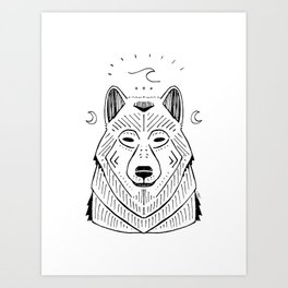 """""""The Call of the Wild""""// Wolf Wave Art Art Print"""