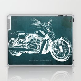 2011 HD VRSCF V-Rod Muscle green blueprint Laptop & iPad Skin