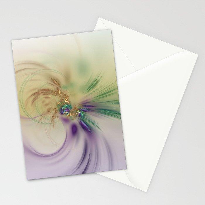 Fall Festive Fractal Stationery Cards
