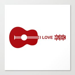 I love music #society6 #decor #buyart #artprint Canvas Print