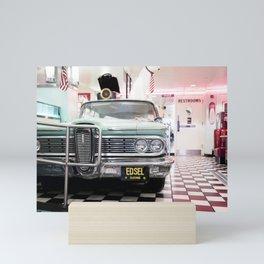 USA Retro Diner | Vintage Car | Travel photography Mini Art Print