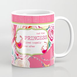 Princess Happily Ever After Modern Birds Floral  Coffee Mug