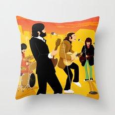 Fab Rooftop Concert Throw Pillow