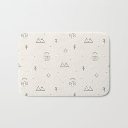 Death Valley in Ivory and Clay Bath Mat
