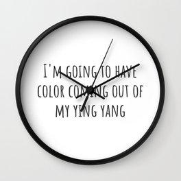 Ying Yang Wall Clock