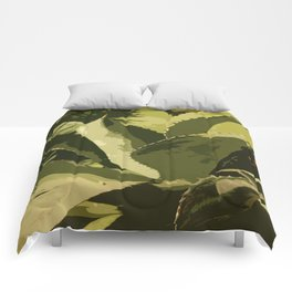 Agave Abstract Comforters