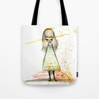 sister Tote Bags featuring Sister by solocosmo