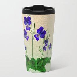 Blue Violets Travel Mug