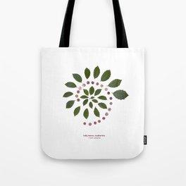 nature mandala... holly leaves, cranberries Tote Bag