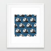 pandas Framed Art Prints featuring Pandas by Diana Hope