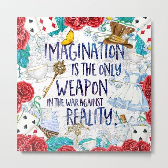 Alice in Wonderland - Imagination Metal Print