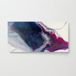 In Bloom - Resin art Metal Print