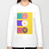 donuts Long Sleeve T-shirts featuring Donuts by Danny Ivan