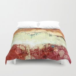 Vintage Abstract Art Duvet Cover