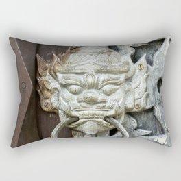 Thai Protector Spirit on Silver Door Rectangular Pillow