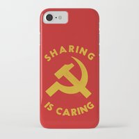 marx iPhone & iPod Cases featuring Sharing Is Caring by Landon Sheely