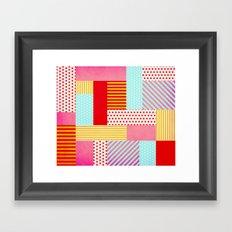 Geometric Pop Framed Art Print