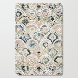 Art Deco Marble Tiles in Soft Pastels Cutting Board