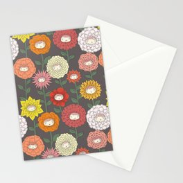Talking Garden (gray) Stationery Cards