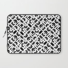 Control Your Game - Black on White Laptop Sleeve