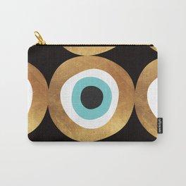Gold Evil Eye 70s Bohemian Lucky Charm Nazar  Carry-All Pouch