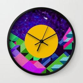 Geometric Minimal Amethyst Wall Clock