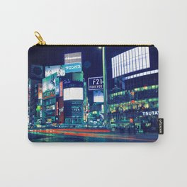 Shibuya Crossing with light trails Carry-All Pouch