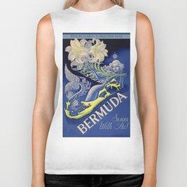 Vintage Mermaid Bermuda Biker Tank