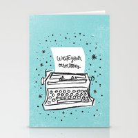 write Stationery Cards featuring Write your own story. by Matthew Taylor Wilson