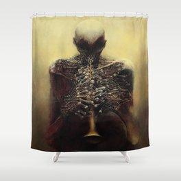 Untitled (The Flutist) by Zdzisław Beksiński Shower Curtain