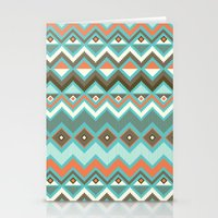aztec Stationery Cards featuring Aztec by Priscila Peress