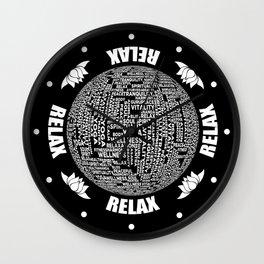 Meditation Yoga Design Wall Clock