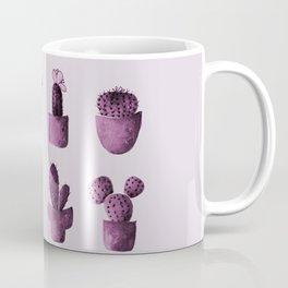 One cactus six cacti in pink Coffee Mug