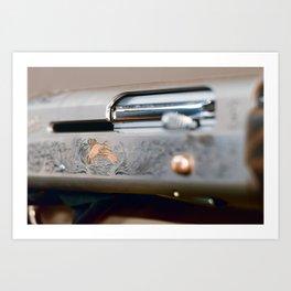 Hunting shotgun Close up. Duck Hunting. Art Print