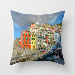 Cinque Terre, Italy (Houses on the Cliff) Throw Pillow