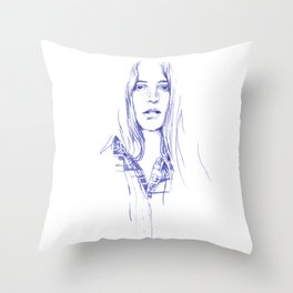 Freckle - cowgirls rule! Throw Pillow