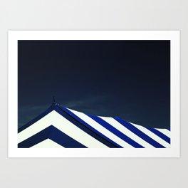 Circus Tent in Dark Cobalt Blue Art Print