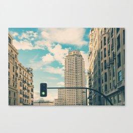 Green light for Madrid Canvas Print