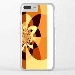 Orange Brown Kaliedoscope Clear iPhone Case