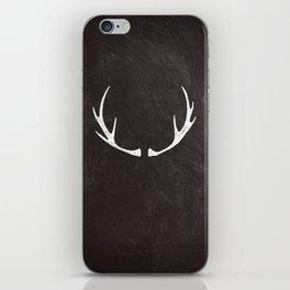 Chalkboard Art - Antlers iPhone Skin