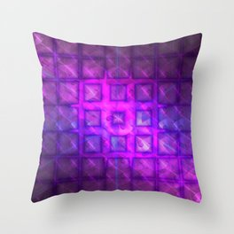 Celestial Rain Tiles Throw Pillow