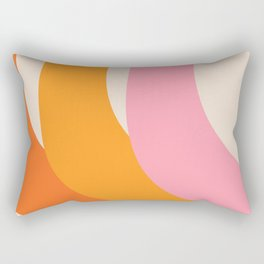 70s summer colors - art, interior, drawing, decor, design, bauhaus, abstract, decoration, home, gift Rectangular Pillow