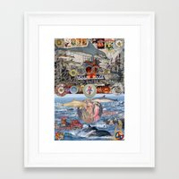 moulin rouge Framed Art Prints featuring Dolphin,Dinner Plate, Moulin Rouge by Fredmarinello