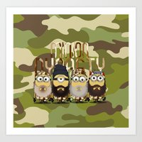 minions Art Prints featuring Minions Mashup Duck Dinasty by Akyanyme