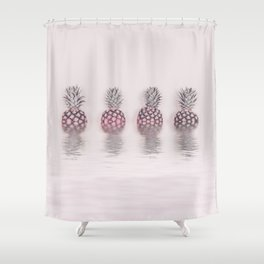 Pink Pineapple In The Water Shower Curtain